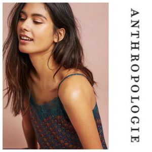 Anthropologie Lace Trim Candace Cami Floreat New